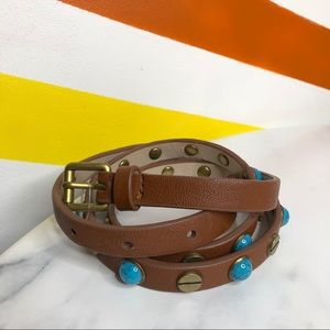 NEW Ecote vegan faux leather studded skinny belt